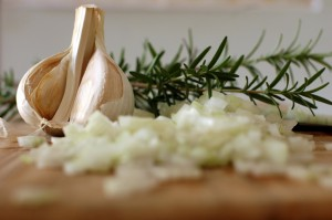 organic rosemary and garlic