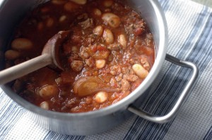 Lamb and butter bean casserole
