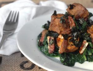 organic sweet potato miso kale