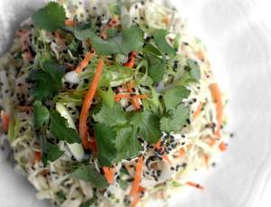 organic cabbage salad
