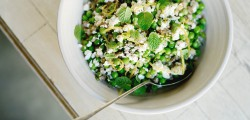 organic pea salad