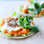 Tortillas with Sweet Potato, Avocado & Lime Dressing