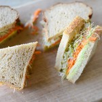 Salad, Sprout & Cheddar Sandwiches